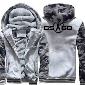 Image 4 - The Game CS GO Costume Mens Sportswear 2018 Winter Fleece Brand Thick Sweatshirt Zipped Hoodies Jacket Harajuku Tracksuit Hoody