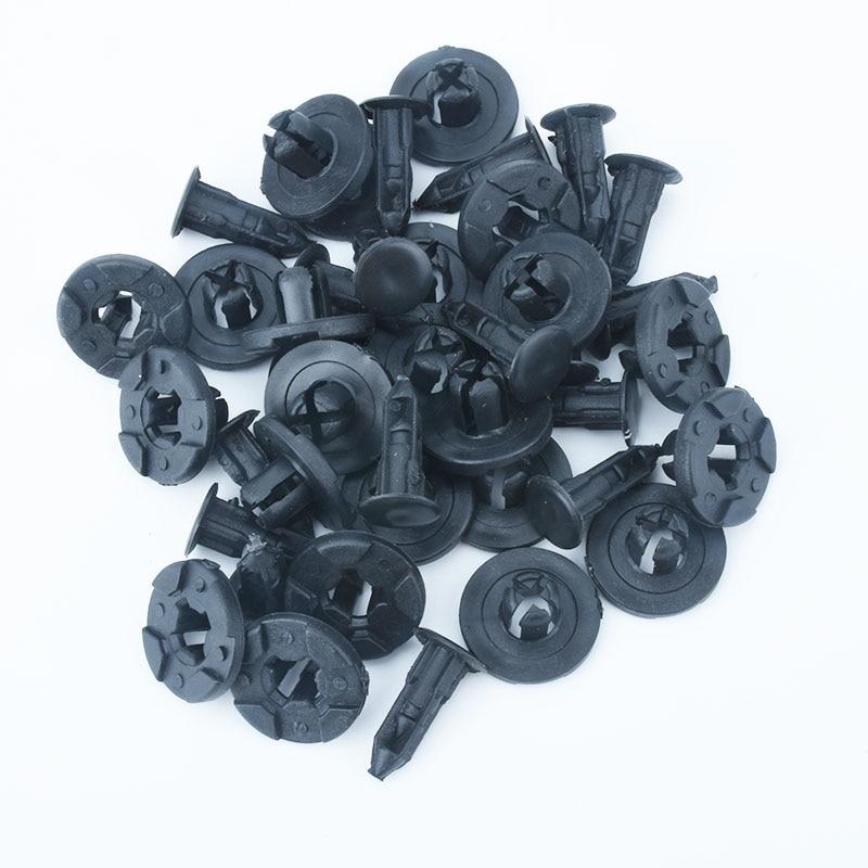 Image 2 - 100 шт 8 мм авто бампер брызговик специальный нейлоновый Заклепки Крепеж для Livina Nissan Sylphy, Tiida Автомобильный интерьер крепежные зажимы-in Клипсы и зажимы для авто from Автомобили и мотоциклы