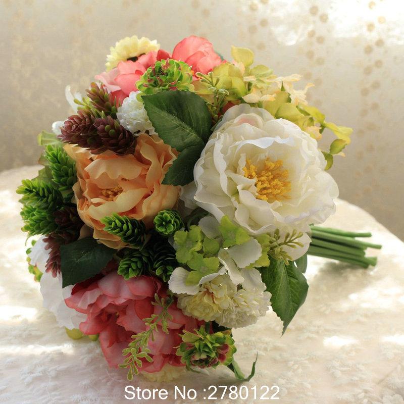 belleza nica nueva arival ramos de novia buque de noiva bridal bouquets simulacin flores