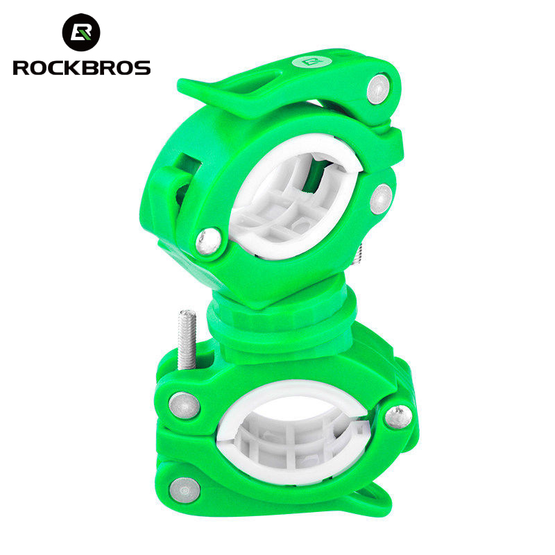 ROCKBROS Bike Light Holder Clip 360 Degree Rotation Flashlight Stand Front Lamp Holder Fixed Lamp Holder Bicycle Accessories