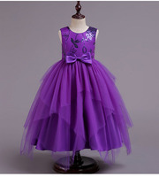 2 12 Years Teenagers Kids Girls Wedding Long Dress elegant Princess Party Pageant Formal Sequined embroidered dress Frocks