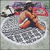 By DHL Or EMS 50 Pcs Large Microfiber Round Beach Towels 150cm Diameter With Tassels Sunbath