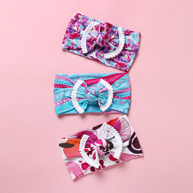 1 Piece Summer New Fruit Children DIY Elastic Hair Headband Rabbit Ears Baby Newborn Headband Headwear Headwrap in Hair Accessories from Mother Kids