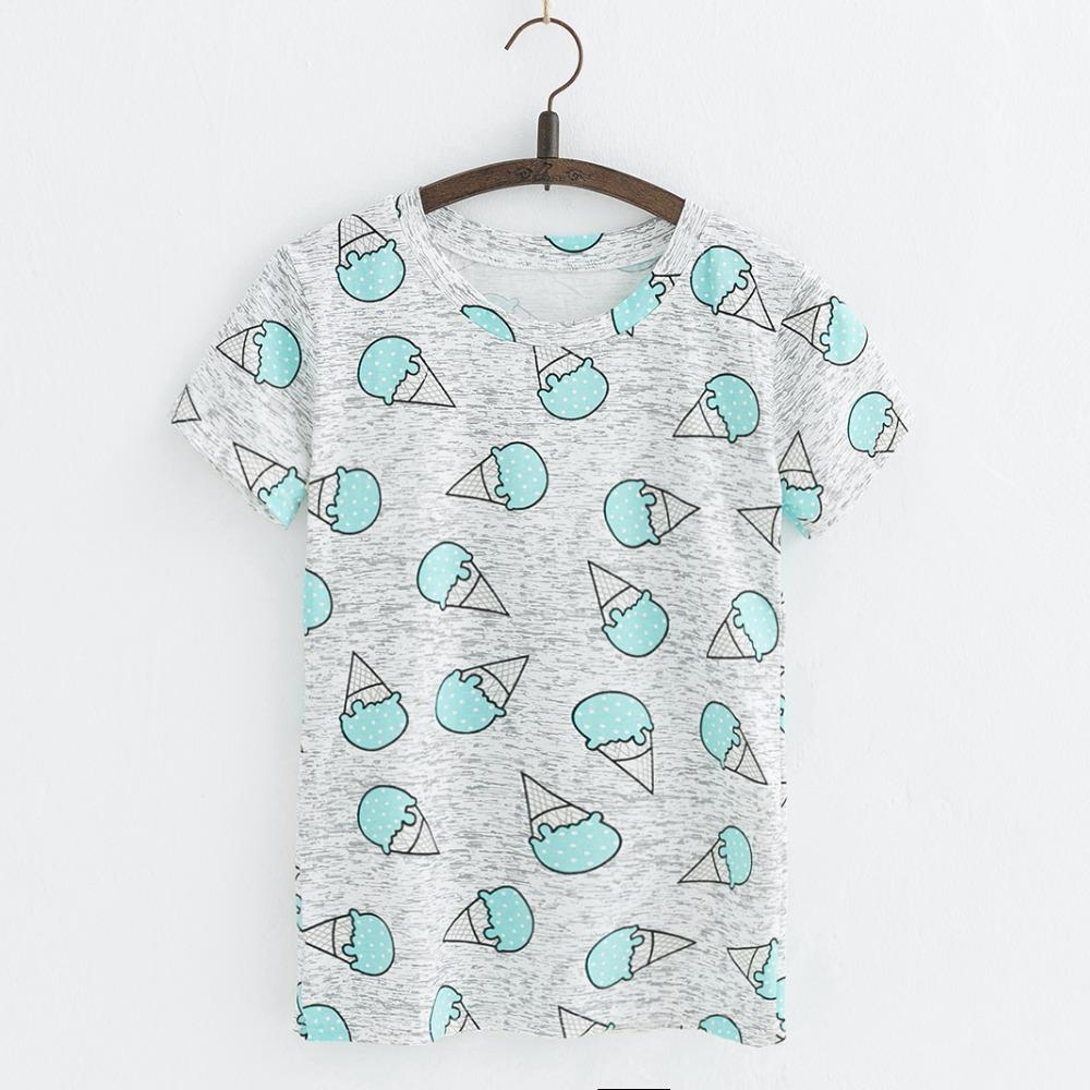 HTB1zyjERFXXXXa.XpXXq6xXFXXXO - Hot Style Pineapple Print Tees Short Sleeve T-shirt Women