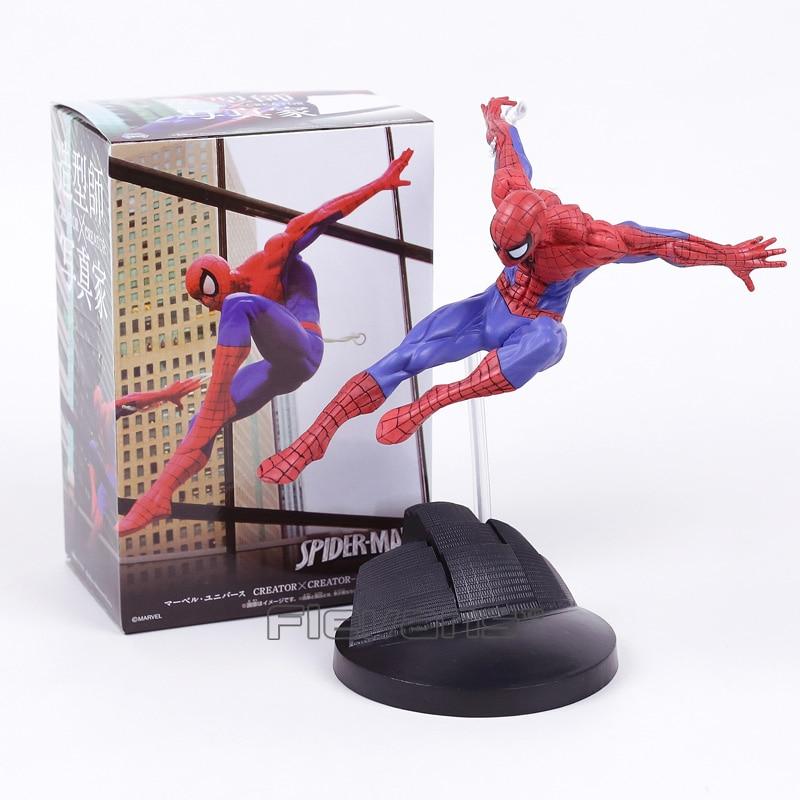 Spiderman CREATOR X CREATOR The Amazing Spider Man PVC Figure Collectible Model Toy spiderman creator x creator the amazing spider man pvc figure collectible model toy