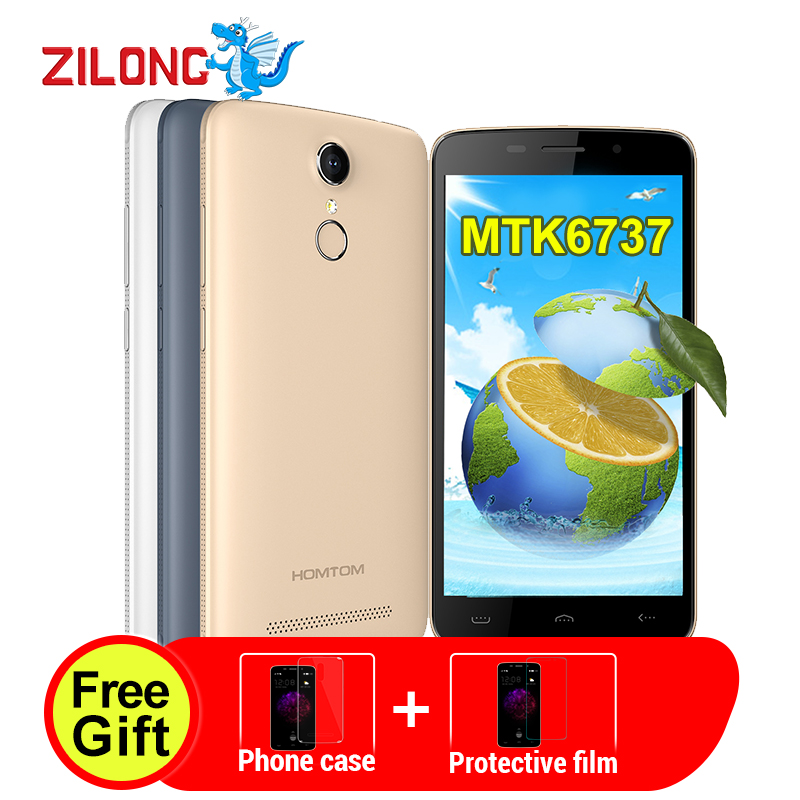 Цена за HOMTOM HT17 Смартфон Android 6.0 5.5 ''4G 1280*720 MTK6737 Quad Core 1 ГБ + 8 ГБ 3000 мАч OTG 13MP Отпечатков Пальцев 4 Г LTE Мобильный Телефон