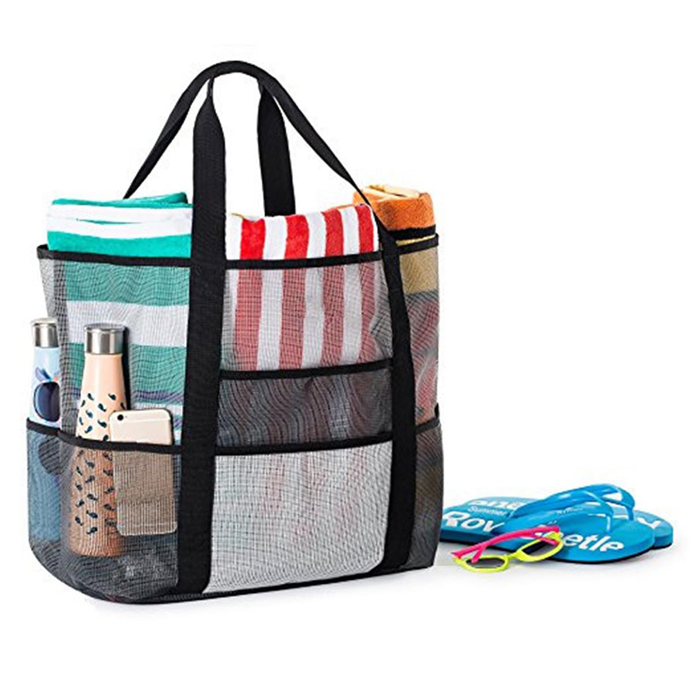 Bags Sport-Bags-Covers Mesh for Traveling Large Picnic Camping Tote-Sand Beach-Bag Folding