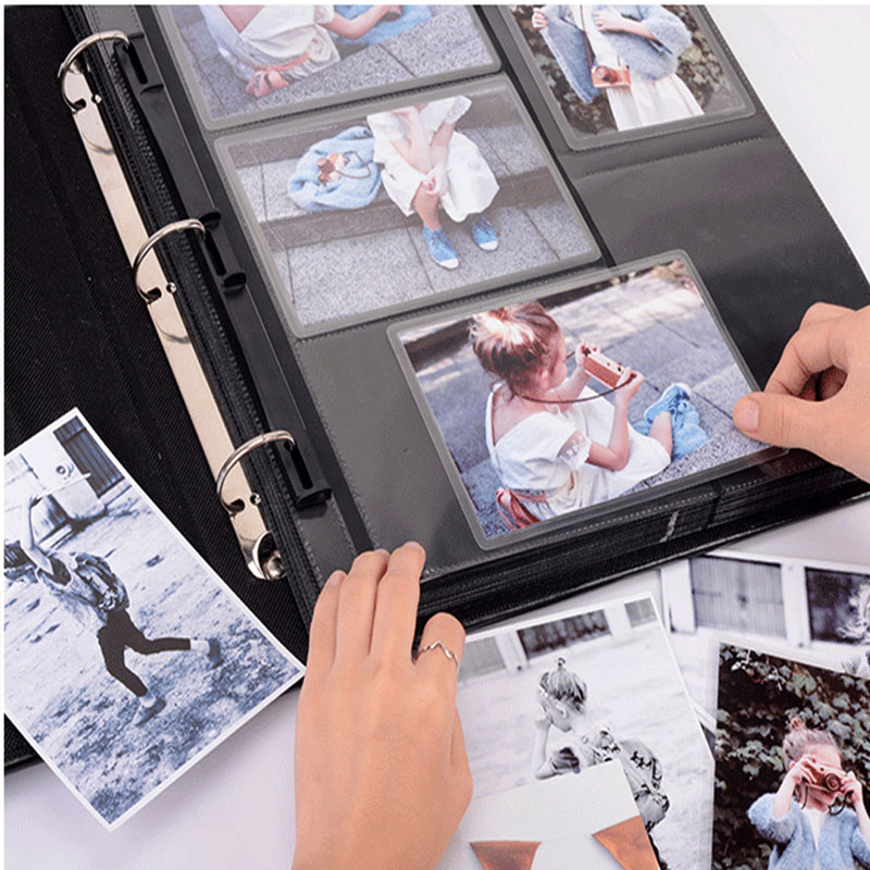 Image 2 - Five colors retro PU cover 6 inch large insert photo album 600  large capacity family baby growth photo albumPhoto Albums   -
