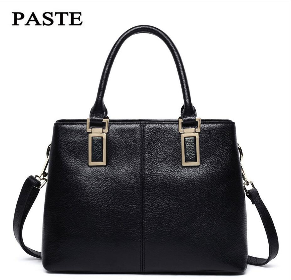 PASTE Autumn Winter the First Layer The First Layer Cowhide Leather Package Dai Bag Handbag Messenger Bag Leather Handbags qiaobao 2018 new korean version of the first layer of women s leather packet messenger bag female shoulder diagonal cross bag