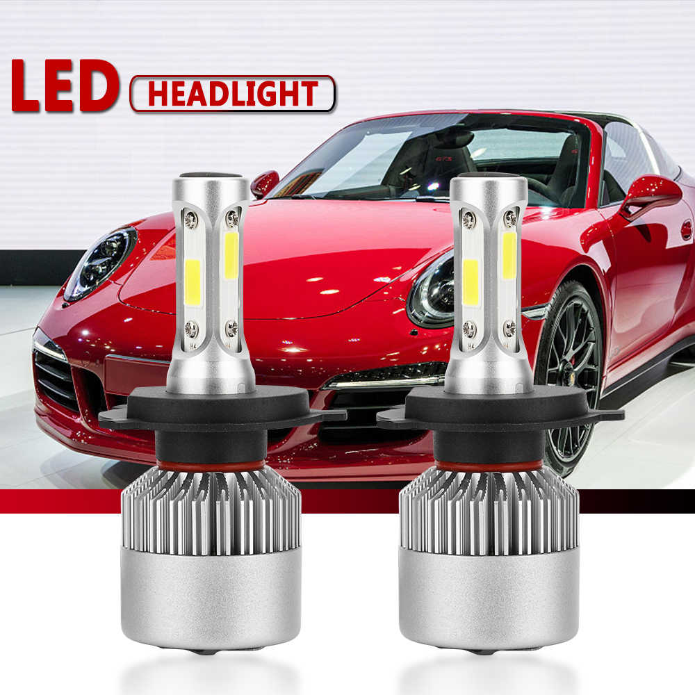 S2 COB 2Pcs H4 Led Headlight Car Bulb Auto Lamps H7 H1 H3 H11 H13 9005 9006 H7 Bulb Light Turbo Led H4 8000LM/Pair 6500K