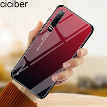ciciber Cover For Huawei P30 P20 Mate 20 Pro Lite Phone Cases  Honor 10 Tempered Glass Case Funda Capa Coque Abstract
