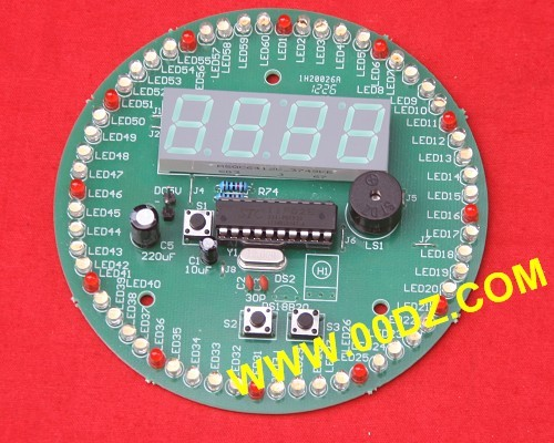 A new 60 second rotating electronic clock Kit (second clock was the whole point timekeeping element 172 DIY speed correction) diy spherical rotating led kit pov soldering training kit