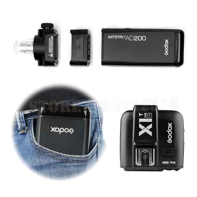 for FUJI GODOX-AD200-TTL-2-4G-HSS-1-8000s-Pocket-Flash-Light-Double-Head-200Ws-with-2900mAh