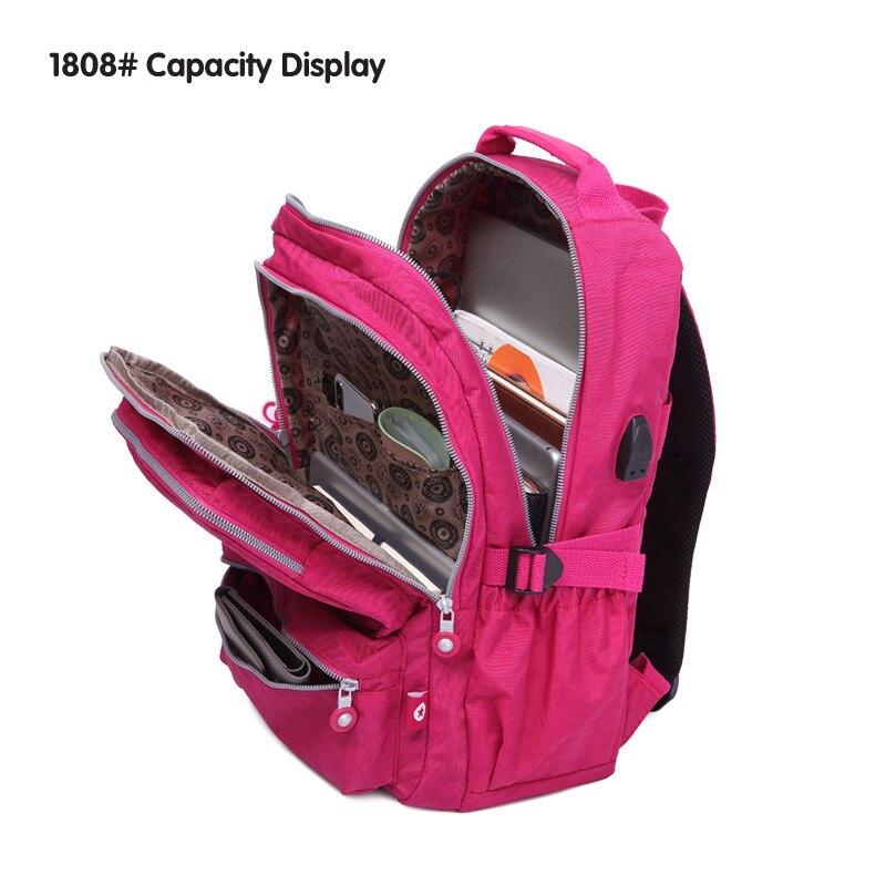 TEGAOTE Women School Backpacks Anti Theft USB Charge Backpack Mens Laptop Bagpack School Bags For Teenage Girls Mochila Travel