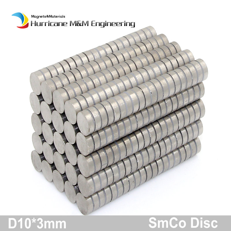 SmCo Magnet Disc Dia 10x3 mm cylinder grade YXG28H 350 degree C operating temp Permanent Magnets