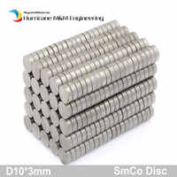 SmCo Magnet Disc Dia. 10x3 mm cylinder grade YXG28H 350 degree C operating temp Permanent Magnets Rare Earth Magnets 60-120pcs