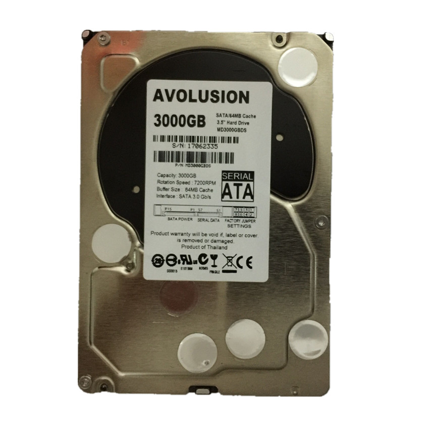 все цены на 3000GB SATA 3.5inch 7200RPM 64MB Cache Enterprise Grade Security CCTV Hard Drive Warranty for 1-year онлайн