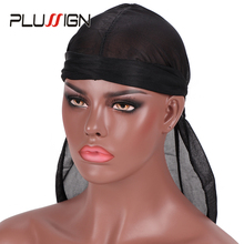 Pirate-Cap Headwrap Durag Plussign Hair-Loss-Chemo Waves for Summer Men's 1pcs Beanie
