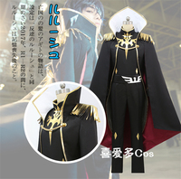 NEW Code Geass Julius Kingsley Cosplay Costume Dovetail+Coat+Cloak+Pants+Belt+Free Shipping G HOT SELL C