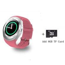 Y1 Смарт-часы Круглый Поддержка Nano SIM и карты памяти с Bluetooth смартфон часы 2 г Для мужчин Для женщин Бизнес smartWatch для IOS Android