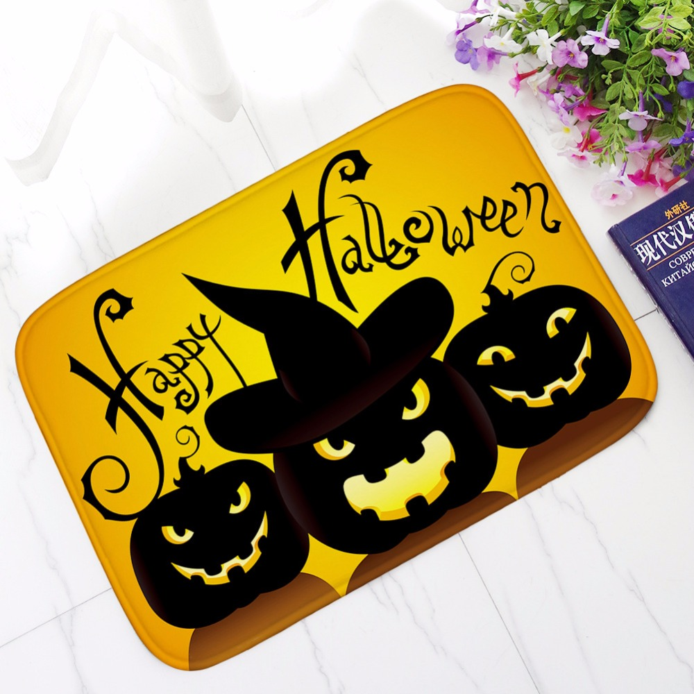 Aliexpress.com : Buy New Halloween Pumpkin Lights Bath Mats Bathroom Kitchen  Rug Absorbent Non Slip Carpet Super Funny Welcome Mat Footcloth From  Reliable ...