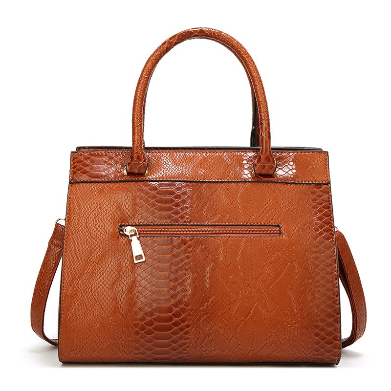 New Fashion Women Bag Luxe cuir Serpentine Woman leather Handbags With pouch Ladies Trunk Tote bolsos Women messenger bag bolsos