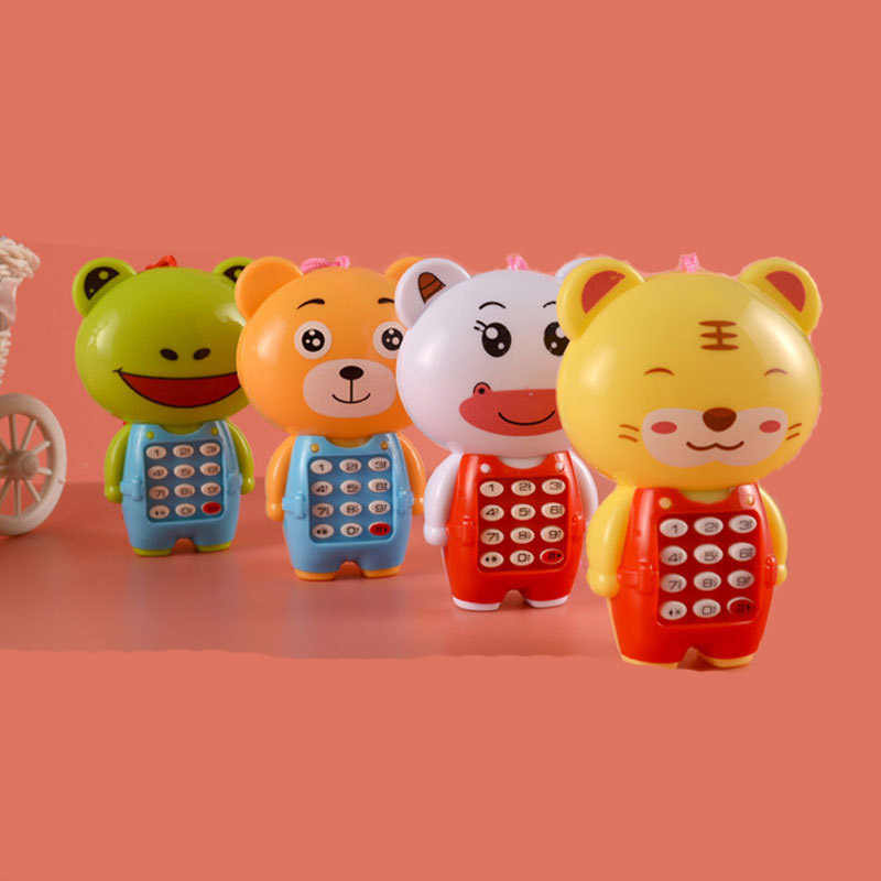 لعبة هواتف إلكترونية موسيقية صغيرة لطيف الأطفال لعبة الهاتف التعليم المبكر الكرتون الهاتف المحمول الهاتف المحمول ألعاب الأطفال