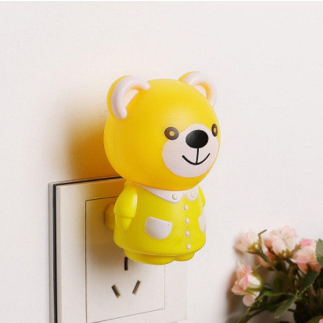 Newest Led Night Light In Tiger / Bear Cartoon Style Baby Lights Led Bulb Sleeping Night Lamp Novelty Lights US Plug