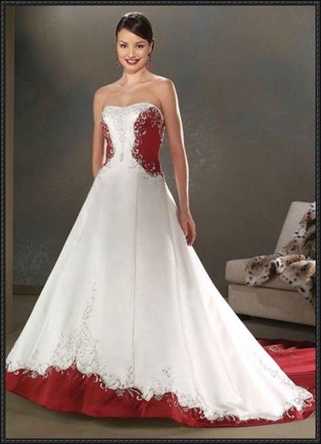 New White Crimson Wedding Dress Plus Size Custom 2 28 Xu0068