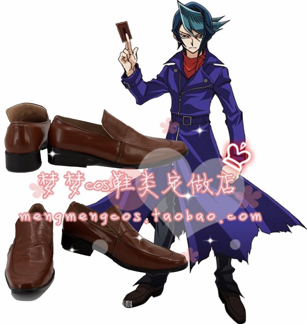 Flight Tracker Duel Monsters Yu-gi-oh Shoes Arc-v Shun Kurosaki Cosplay Shoes Boots Custom-made 2689 100% High Quality Materials