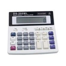 цена на Hot DS-200ML Office calculator Muti-function calculator Large key-board keys 12 Digits Big display Dual power calculators