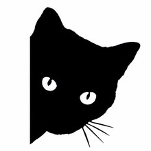 цены Cat Face Peering Car Sticker Styling Accessories Reflective Waterproof Fashion Funny Automobile Motorcycle Stickers And Decals