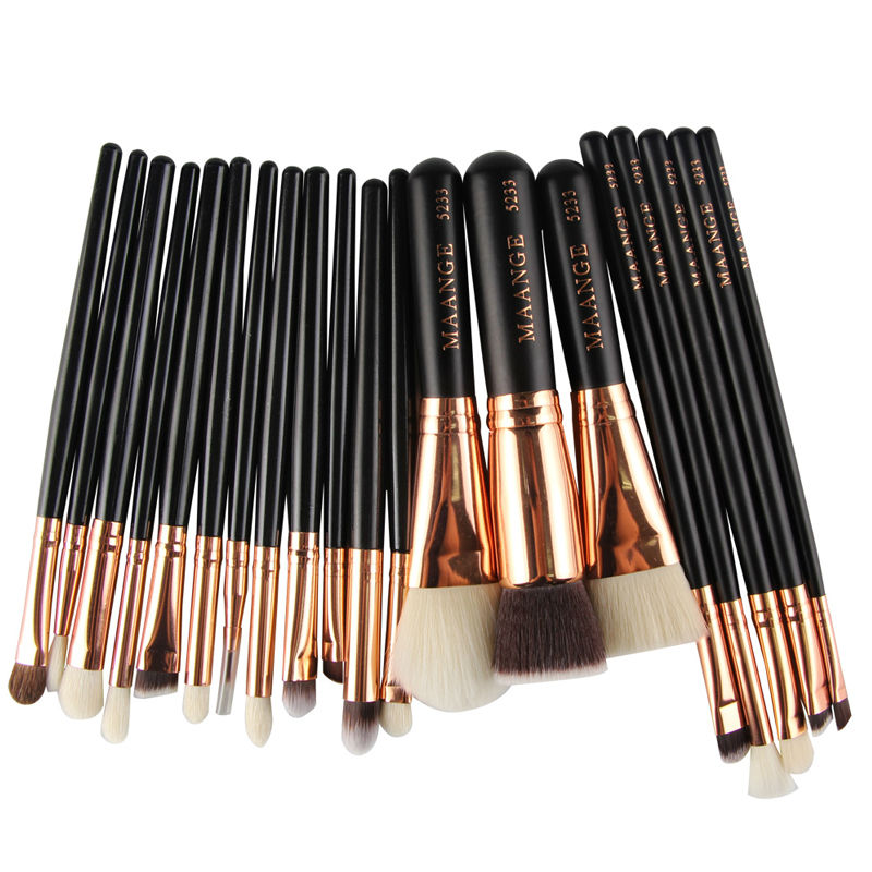 20Pcs Rose gold Makeup Brushes Set Pro Powder Blush Foundation Eyeshadow Eyeliner Lip Cosmetic Brush Beauty Make up Brushes Tool new 32 pcs makeup brush set powder foundation eyeshadow eyeliner lip cosmetic brushes kit beauty tools fm88