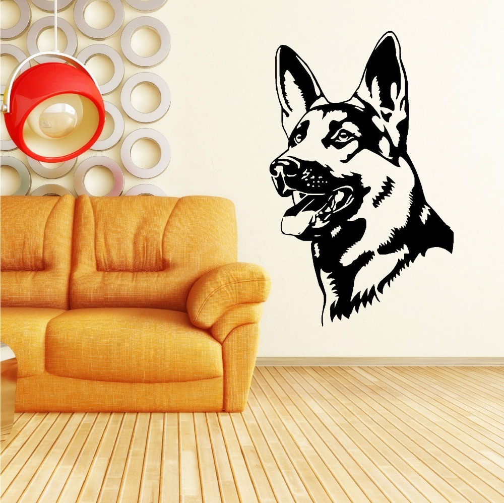 Removable German Shepherd Alsation Dog Vinyl wall art sticker Home ...