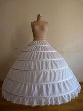 Быстрая доставка белый/черный 6 Обручи Нижняя юбка кринолин нижняя юбка для свадебное платье в наличии 2018