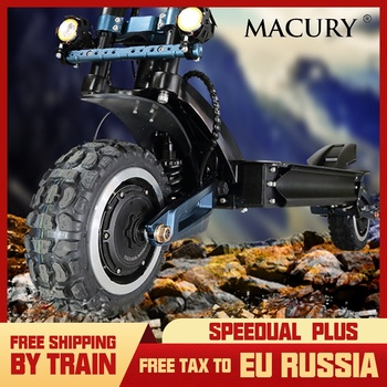 Macury Speedual Plus 11 pouces Double moteur Scooter électrique 72 V 3200 W tout-terrain e-scooter 110 km/h Double entraînement zéro 11X hors route