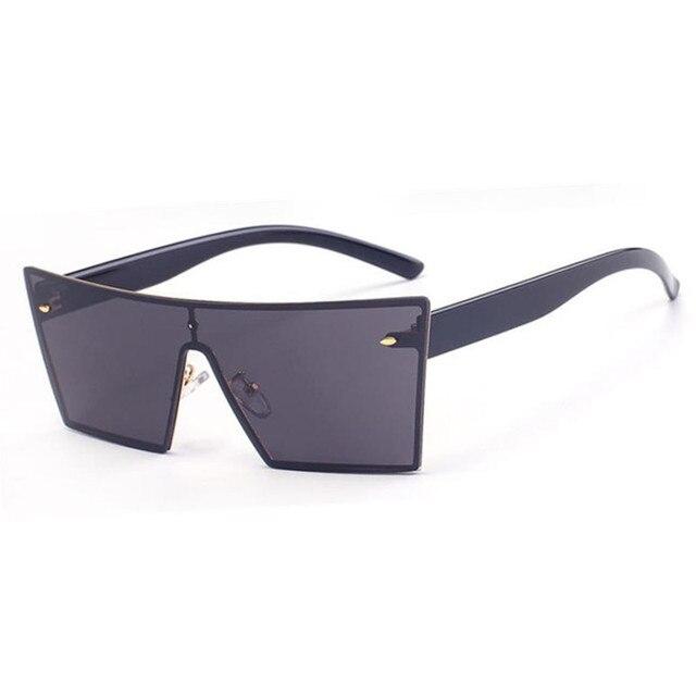 53aad11cb0b Women Oversized Retro Goggles Men Fashion Silver Shield Windproof Outdoor  Steampunk Sunglasses Vintage Male Eyewear