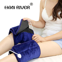 Health Care 1 Pair Electric heating coarse salt aifted knee pad Therapy Arthritis Rheumatism 220V 85W Adjustable Tempera