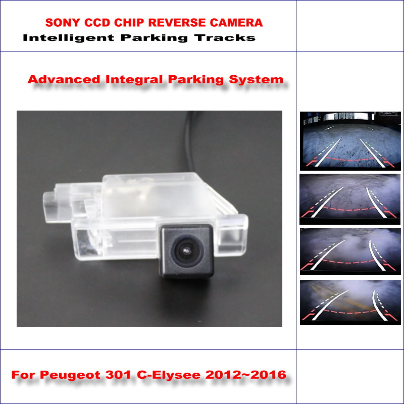 ФОТО Backup Rear Reverse Camera For Peugeot 301 C-Elysee 2012~2016 / HD 860 * 576 Pixels 580 TV Lines Intelligent Parking Tracks
