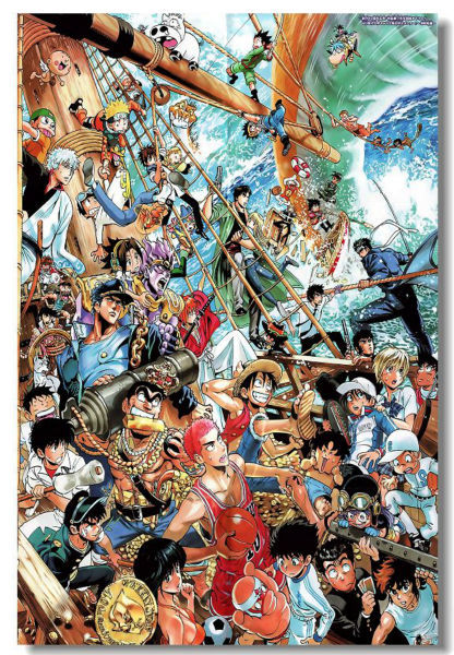 custom canvas art luffy wall decals slam dunk poster naruto mural