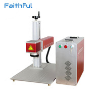 20W Fiber Laser Marking Machine Rotary Axis Portable Separated Style For Metal EZCAD Software Metal Engraving