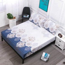 Waterproof Fitted Sheet Four Corners With Elastic Band Comfortable Breathable Mattress Cover For Bed Wetting Anti-mite