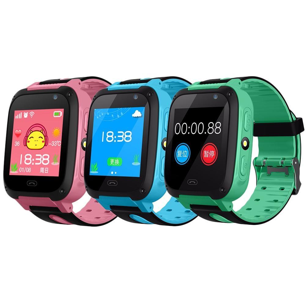 V6 reloj inteligente bebé con reloj inteligente rastreador GPS Bluetooth Anti-Perdida Monitor SOS IP67 teléfono inteligente niños para IOS Android