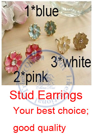 Stud Earrings ear rings Fashion for women Girls lady flower france style vintage multi color desgin CN post