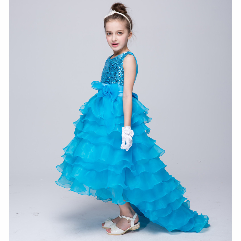 2016 New fashion Dress for Girl Princess Party dress for Baby Girl sleeveless Dress for 3 4 5 67 8 9 10 11 12 years new fashion suspender with sleeveless shirt suit for girl