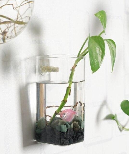 Oselif 1pcs Handmade The Newest Wall Glass Vase Clear Terrarium