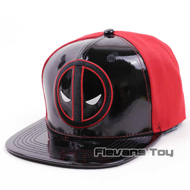 419dc06d207 Cool Fashion Marvel X-men Deadpool Snapback Caps Leather and Cotton Baseball  Cap Men Boy Hip-hop Hats