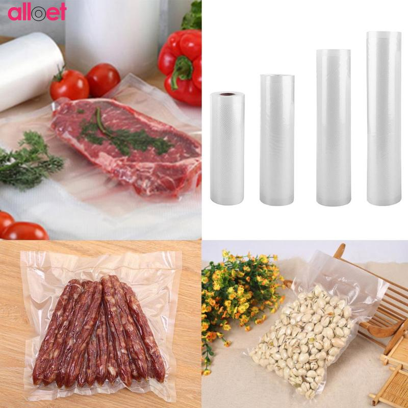 1 Roll Kitchen Food Vacuum Bag Storage Bags For Vacuum Sealer Food Fresh Long Keeping Vacuum Sealer Food Saver Bag hzpk home vacuum sealer auto manual vacuum machine for the home kitchen equipment sealer vacuum bags roll for food saver hz 300