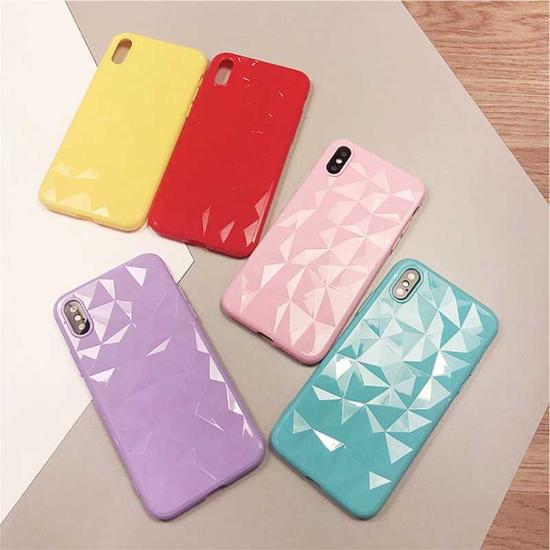 3D diament miękki silikonowy pokrowiec na iphone 6s 6s Plus Coque iphone 6s śliczne różowe pokrywa dla iphone 7 8 Plus iphone 8X7 plus etui