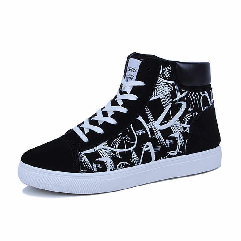 Süper Sıcak Ilkbahar ve Sonbahar Erkek Botları Rahat Kaliteli Yüksek Top Ayakkabı Erkekler Yeni rahat ayakkabılar Nefes Masculinas